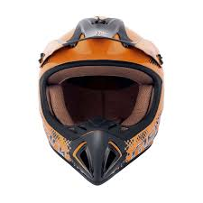 amazon com offroad helmet goggles buy glossy orange fastrack motocross helmet with black graphics