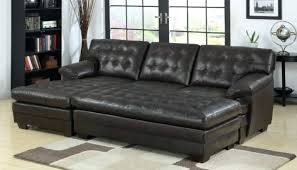 double chaise lounge sofa furniture black leather double chaise