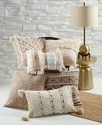 decorative pillows bed lacourte macramé 20 square decorative pillow decorative throw