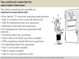 Stocker Job Description For Resume by Stock Taker Interview Questions