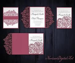 tri fold invitation template roses set cricut wedding invitation template gate fold