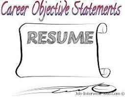 Job Objective Sample Resume by Job Objective For Resume Berathen Com
