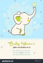 Babyshower Invitation Card Baby Shower Invitation Card Stock Vector 134902157 Shutterstock