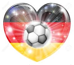 The Germany Flag Germany Soccer Football Ball Flag Love Heart Concept With The