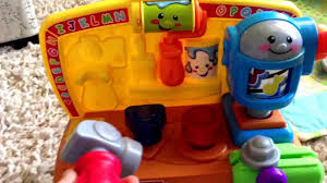 comparing the fisher price tool bag and tool bench baby toys youtube