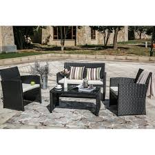 patio festival clearwater 4 piece wicker patio leisure set w