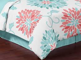 Blue And Coral Bedding Turquoise And Coral Emma 3pc Girls Teen Full Queen Bedding Set