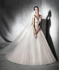 pronovias presta off the shoulder princess gown sell my wedding