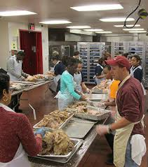 volunteers prepare for houston s annual thanksgiving feast