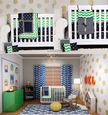 10 Piece Nursery Bedding Sets by 10 Piece 100 Cotton Fabric Baby Boy Chevron Crib Bedding Sets