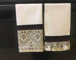 Decorative Hand Towels For Powder Room - powder room towel etsy