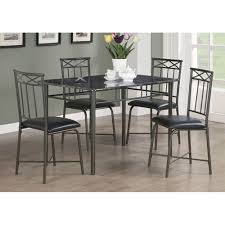 7 Piece Dining Room Set Amazon Com Monarch Specialties Marble Look 5 Piece Metal Dining
