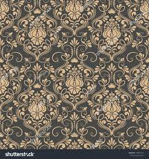 vector damask seamless pattern background elegant stock vector