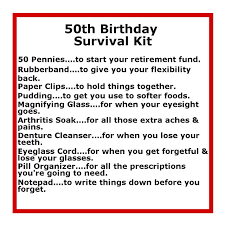 gifts for a woman turning 60 survival kits with sayings 50 th birthday survival kit