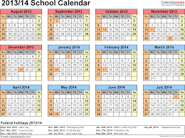 school calendars 2013 2014 as free printable word templates