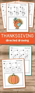 turkey directed drawing thanksgiving activities for kindergarten