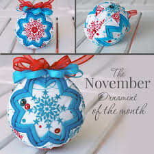 the november 2015 ornament kit of the month the ornament