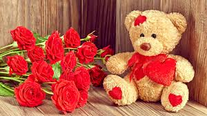 cute and romantic wallpaper with teddy bear images download hd