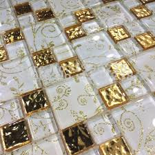 aliexpress com buy luminous gold foil glass mosaic tiles tv