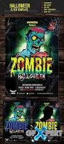 free zombie halloween flyer template download