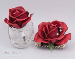 Red Rose Wrist Corsage Red Rose Corsage Etsy