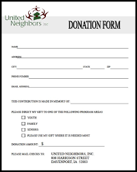 pledge cards template sample donation form expin franklinfire co