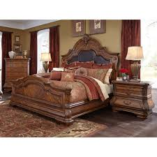 Michael Amini Bedding Clearance Michael Amini Tuscano Melange Queen Size Mansion Bed By Aico For