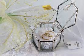 wedding gift set unique wedding gift set heirloom quality glass ring box and a