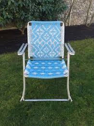 Fold Up Rocking Lawn Chair Vintage Aluminum Highback Wide Seat Web Webbed Folding Fold Up