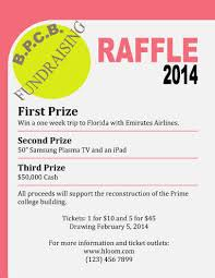 16 free raffle flyer templates prize cash 50 50 fundraising