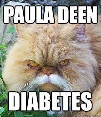 Diabetes Cat Meme - paula deen diabetes diabeetus cat quickmeme