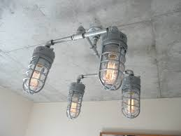 industrial lighting using galvanized pipe and explosion proof
