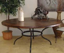 copper top 72 inch round dining table home interiors