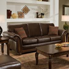Leather And Wood Sofa Living Room Artistic Picture Of Living Room Decoration Using
