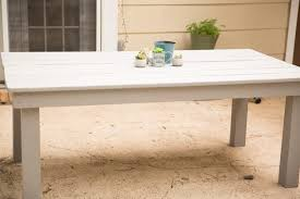Building A Patio Table Diy Farmhouse Patio Table Positively Beautiful