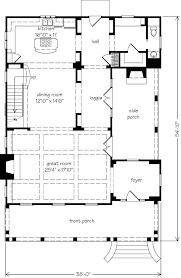 great room house plans creek architect southern living house plans