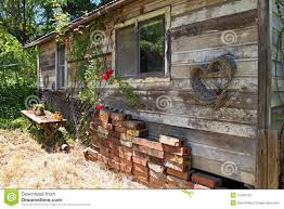 old wood small cabin stock photo image 42749447