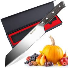 high carbon stainless steel kitchen knives augymer chef knife 8 5 inch professional chefs knife german high