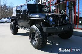 graphite jeep wrangler jeep wrangler with 22in fuel maverick wheels by butlertire