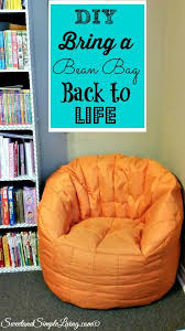 Bean Bag Chairs For Boats Diy Bring A Bean Bag Back To Life Cheap And Easy