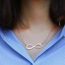 ebay name necklace images Personalize beautiful infinity name necklace excellent minimalist jpg