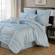 Soft Duvet Covers Bedroom Soft Blue Ruched Duvet Cover With Rug And Curtains For