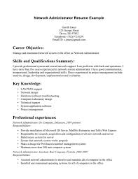 Job Objective Resume Examples by Sample System Administrator Resume G4s Security Officer Cover