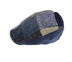 Patchwork Cap - hats donegal grey patchwork cap