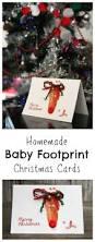 rudolph baby footprint christmas cards baby footprints homemade