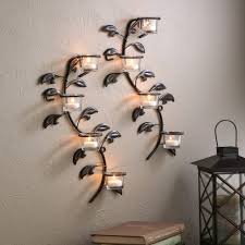 Wall Sconce Set Of 2 Better Homes And Garden Set Of 2 Vine And Leaf Tealight Wall