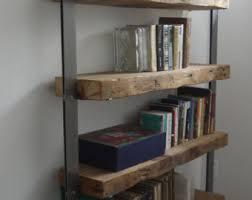 Industrial Metal Bookshelf Metal Shelves Etsy