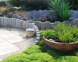 Rustic Landscaping Ideas by Creative Landscape Design Rustic Style Old Wood Logs Retaining