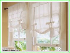 Curtains With Ribbon Ties Semi Sheer Tie Up Curtain For A Simple Farmhouse Look From Country