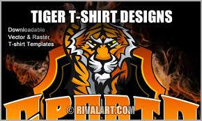 tiger t shirt designs on rivalart com
